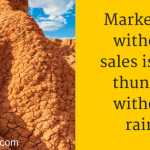 Marketing Without Sales Is Like Thunder Without Rain