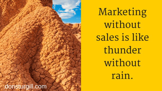 marketing without sales - quote graphic